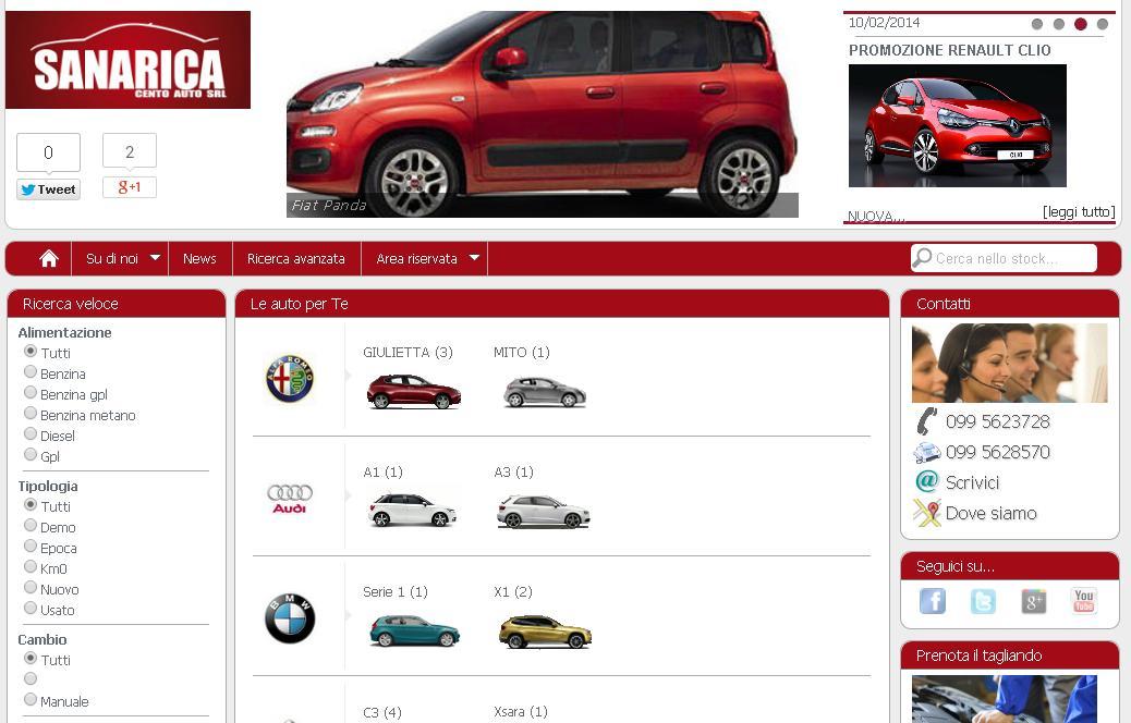 www.sanaricaautomobili.it